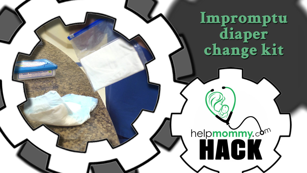 HACK_Impromptu diaper change kit